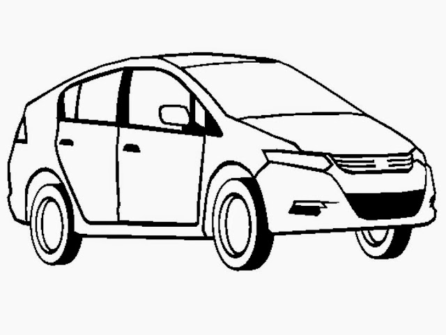 Honda Insight Car Coloring Pages Printable
