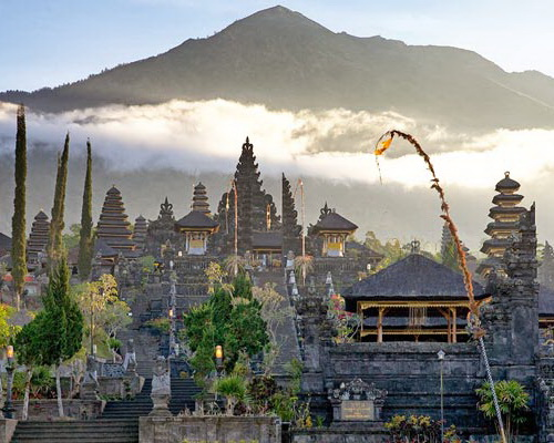 Tinuku.com Travel Great Besakih temple is center religious rituals Hindu Dharma Bali stands majestically on slopes Mount Agung
