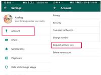 Cara Download Informasi Data Akun WhatsApp