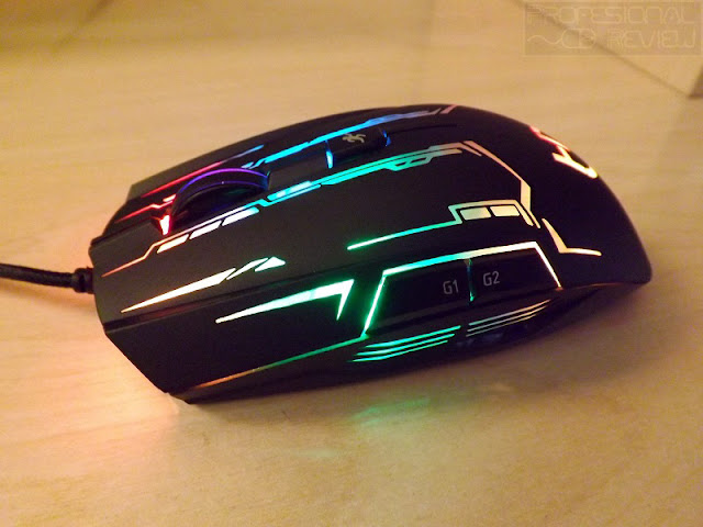 review profesional review, raton hiditec gx20 gaming 4000dpi, raton gaming, on the fly, sensor avago, software GX20, OMRON, raton ambidiestro, retroiluminado, omron, review raton gaming, review gx20