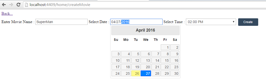 Jackson Coutinho: Online Movie Seat Booking - Using ASP NET