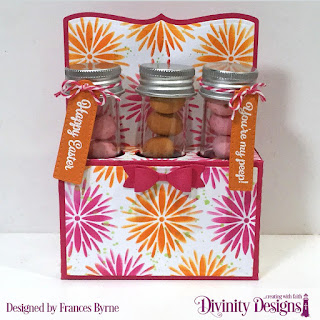 Divinity Designs Stamps: Treat Tag Sentiments 3, Dies: Test Tube Trio, Mixed Media Stencil: Flower Burst   Small Test Tubes