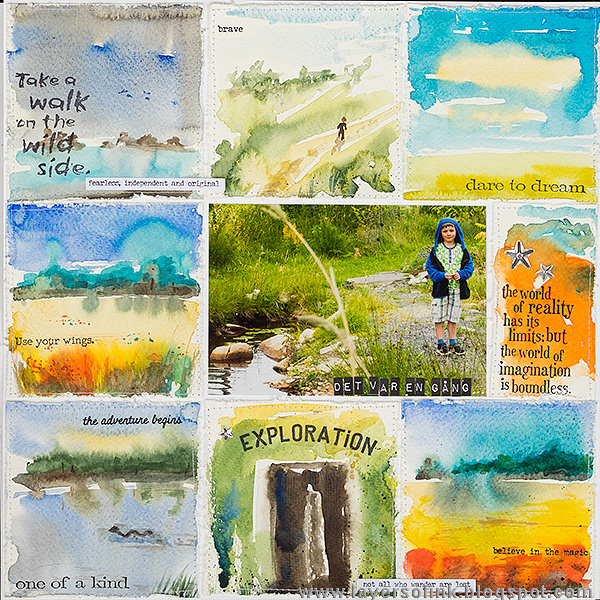 Layers of ink - Mini Watercolor Panels by Anna-Karin Evaldsson.