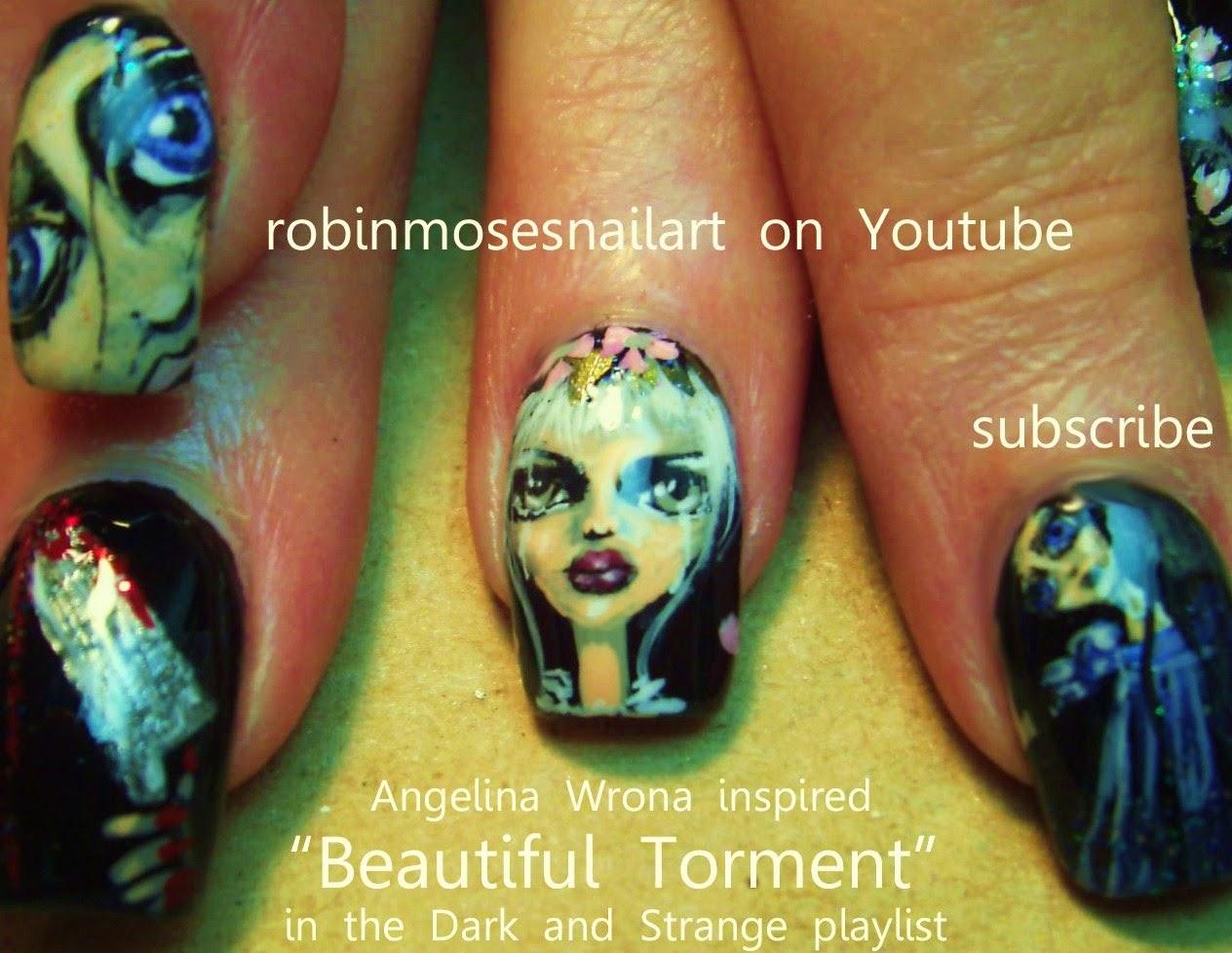 """Robin Moses Nail Art: """"Scary Nail Art"""" """"Halloween Nails ..."""