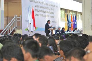 Acara Pengarahan Mahasiswa Baru Angkatan 22  dihadiri 3.100 orang Mahasiswa Baru