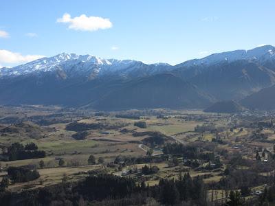 Vistas desde un mirador cerca de Arrowtown, Nueva Zelanda