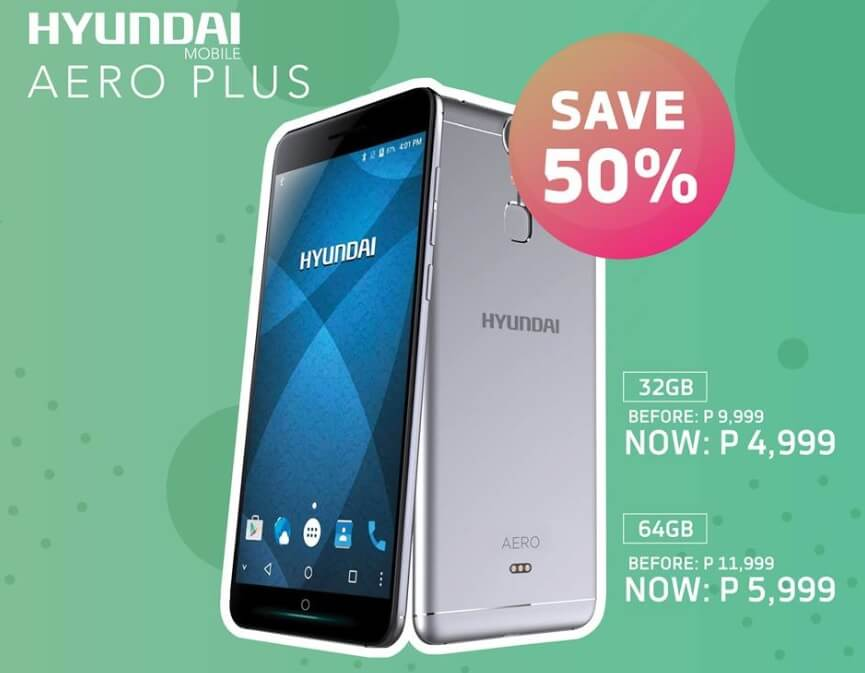 Hyundai Aero Plus with Octa Core Chip, 4GB RAM, 21MP Camera, Now Only Php5,999