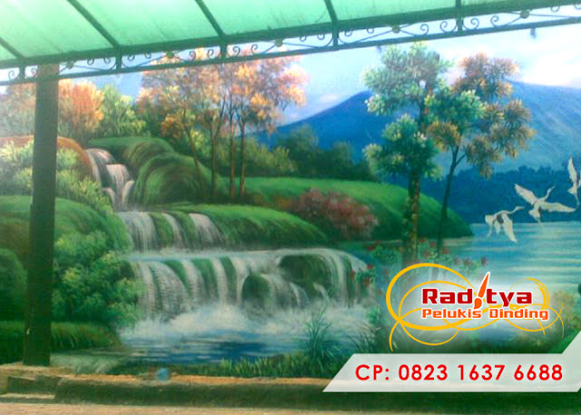 Lukisan tembok pemandangan