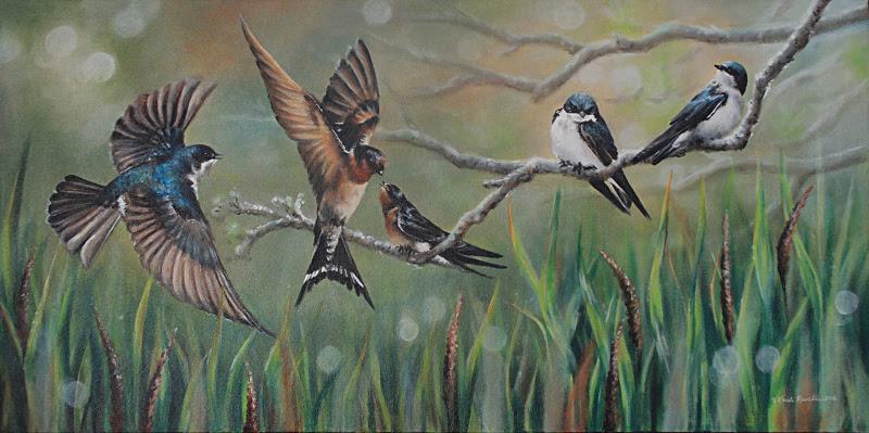 Paintings by Kristi Rauckis.