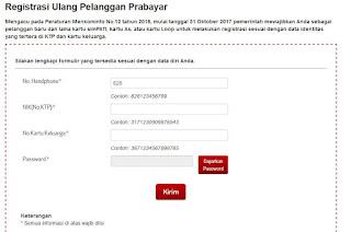 Cara registrasi ulang kartu telkomsel secara online, cara daftar kartu telkomsel, Format sms pendaftaran kartu telkomsel