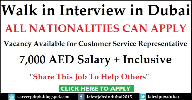 Walk in Interview jobs in Dubai