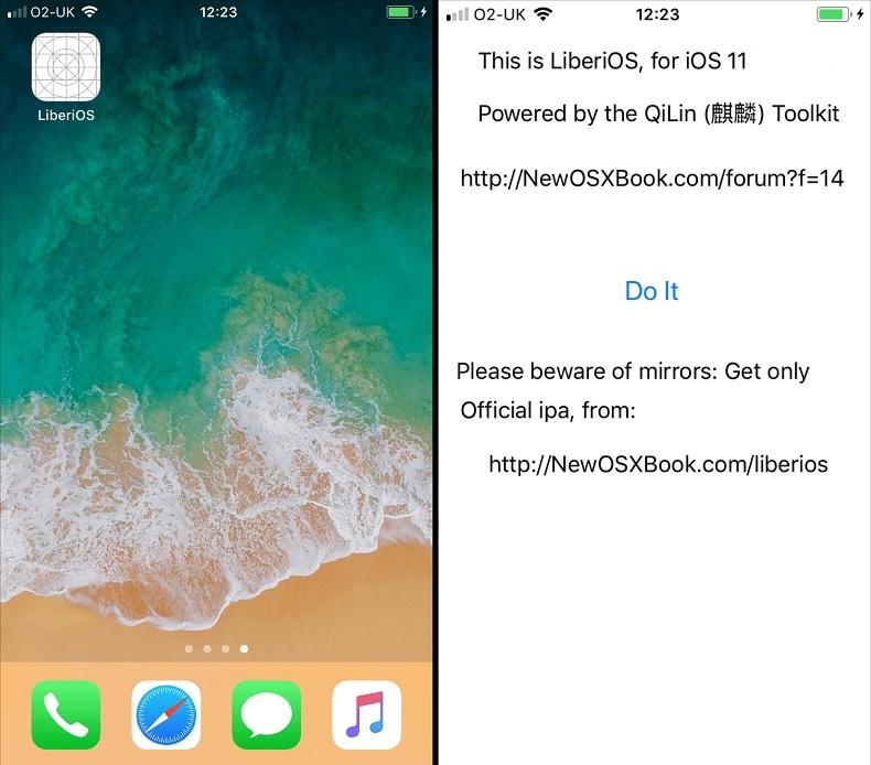 LiberiOS Jailbreak for iOS 11 Firmware