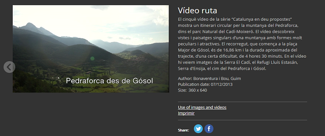 Pedraforca: una videoproposta del Palau Robert