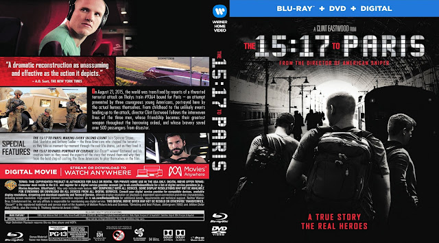 The 15:17 to Paris Bluray Cover