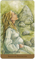 Tarot of the Hidden Realm Julia Jeffrey Seven of Pentacles