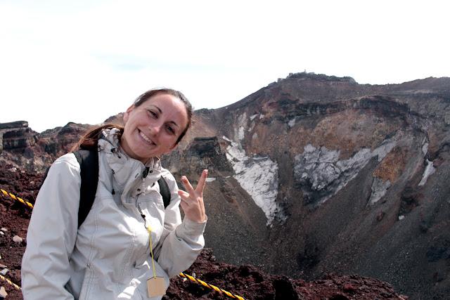 Lena en la cima del Monte Fuji