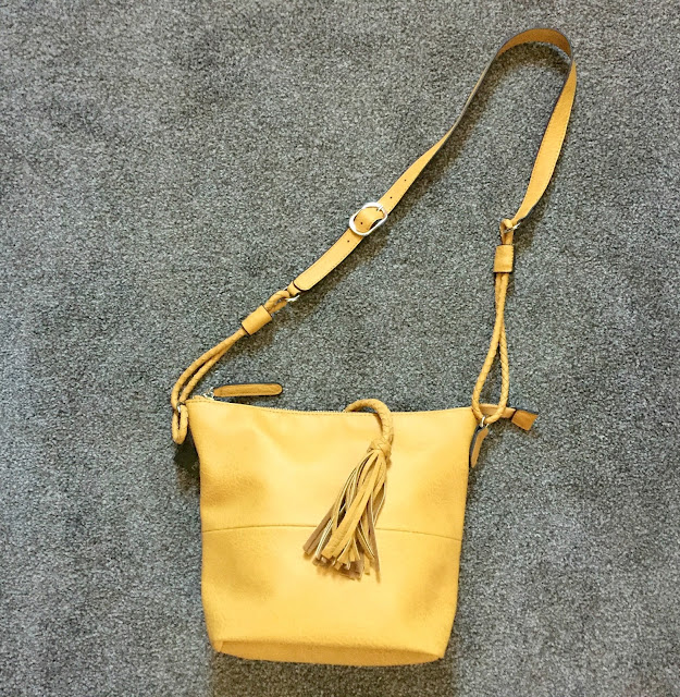 yellow bag from Next