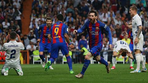 Barca đã vượt mặt Real để đăng quang ngôi vô địch La Liga