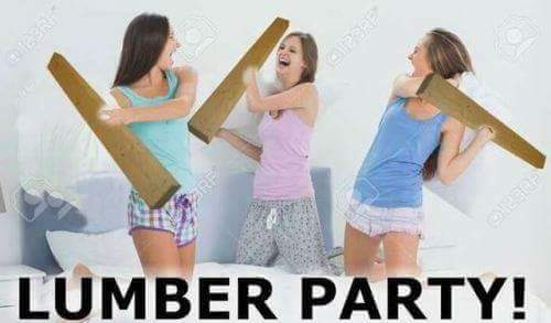 Funny Lumber Party Pun Picture