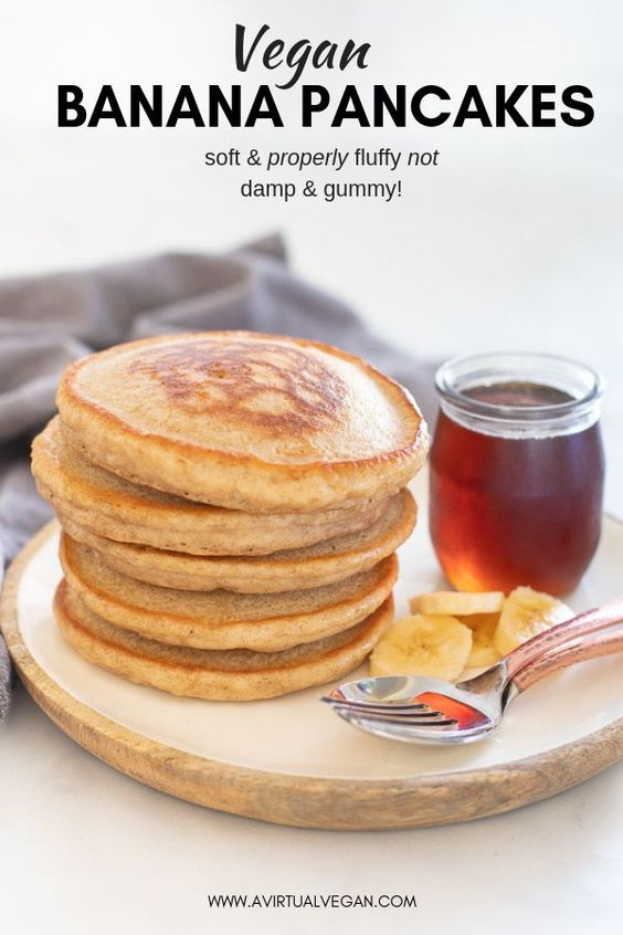 Hands down THE best Vegan Banana Pancakes. They are soft, fluffy, super delicious and so simple to make, from scratch, in a blender. This is an essential, keep handy in your back pocket, recipe that