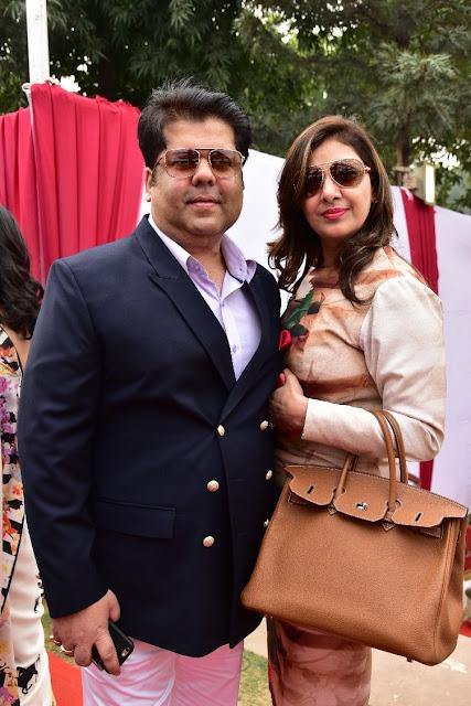 Designer Kapil Arora with Wife Mmonika Arora