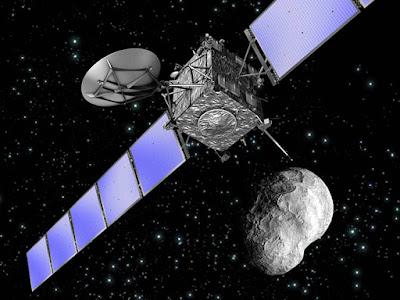 Satélite en aproximación al asteroide bennu