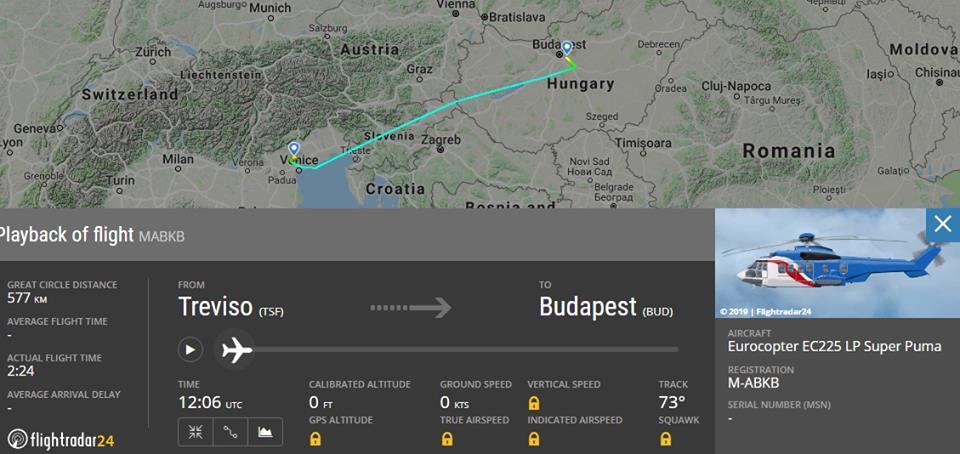 Третій гелікоптер Super Puma прямує до України