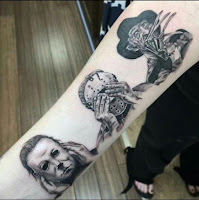 tatuaje para halloween los 3 simios version terror (halloween jason y freddy kruger)