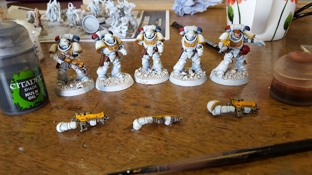 how to paint white space marines