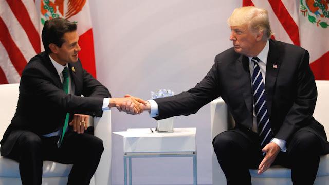 """""""Absolutamente"""": Trump afirma previo a reunión con Peña Nieto que quiere que México pague el muro"""