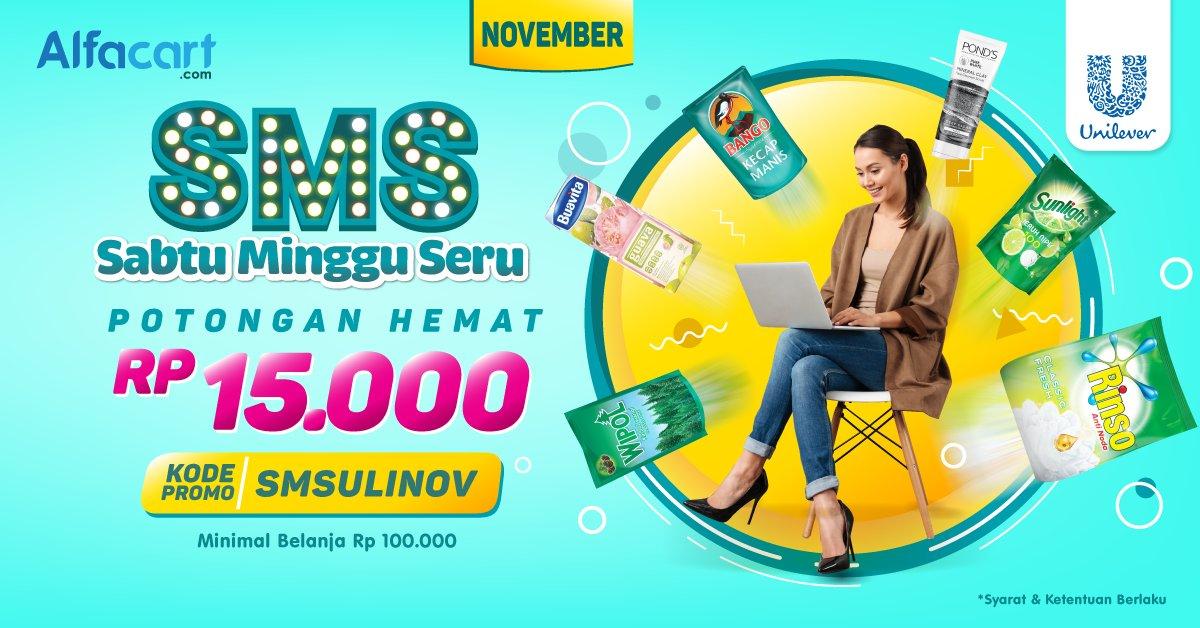 Alfamart - Promo VOcuher Diskon 15 Ribu Sabtu Minggu Seru (s.d 30 Nov 2018)