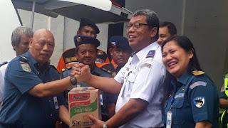 Tahap Pertama Barang Bantuan Dari Kantor Syahbandar Tanjung Priok Sudah Disalurkan Di Banten