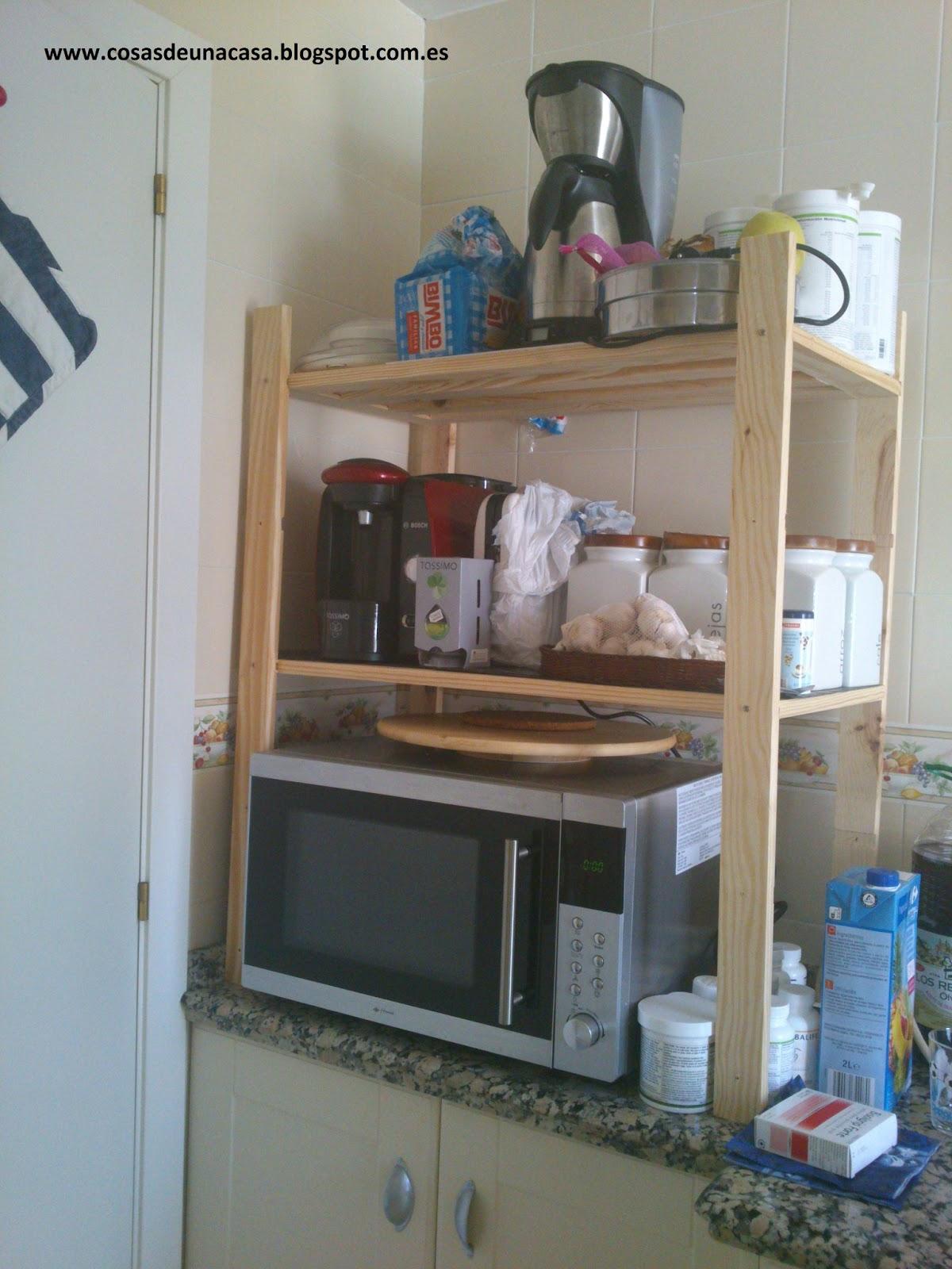 Cosas de Una Casa: Organizar la cocina con un estante o ...