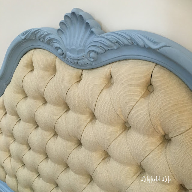 French Bed head in ASCP Louis Blue by Lilyfield Life