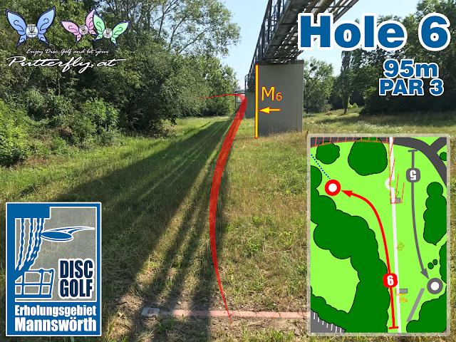 Hole 6 Disc Golf Parcours Erholungsgebiet Mannswörth - Schwechat