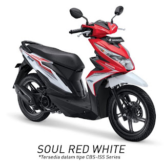 Honda BeAT eSP CBS ISS (Soul Red White)
