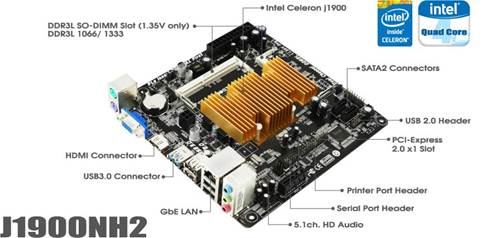 BIOSTAR J1900NH2 Mini-ITX motherboard