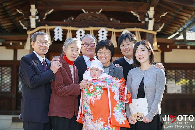 新日吉神宮のお宮参り出張撮影