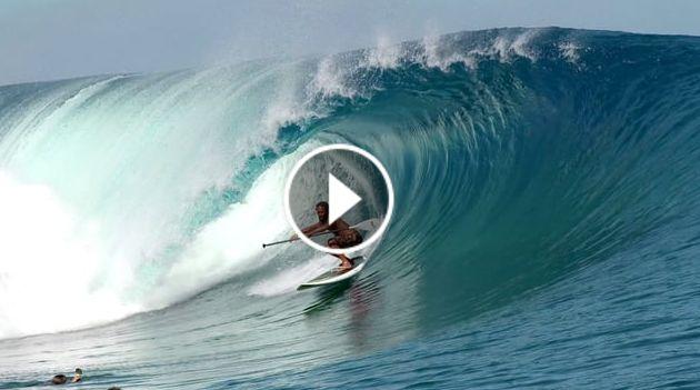 kealii mamala paddling big clean tahiti