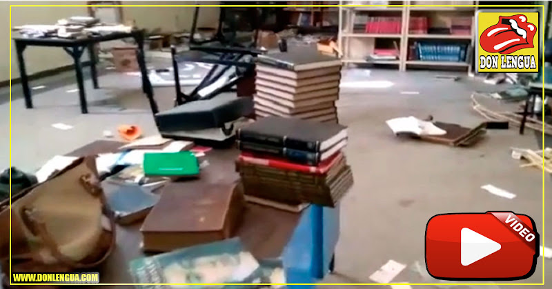 Robaron biblioteca del Liceo Baralt para vender el papel como material de reciclaje