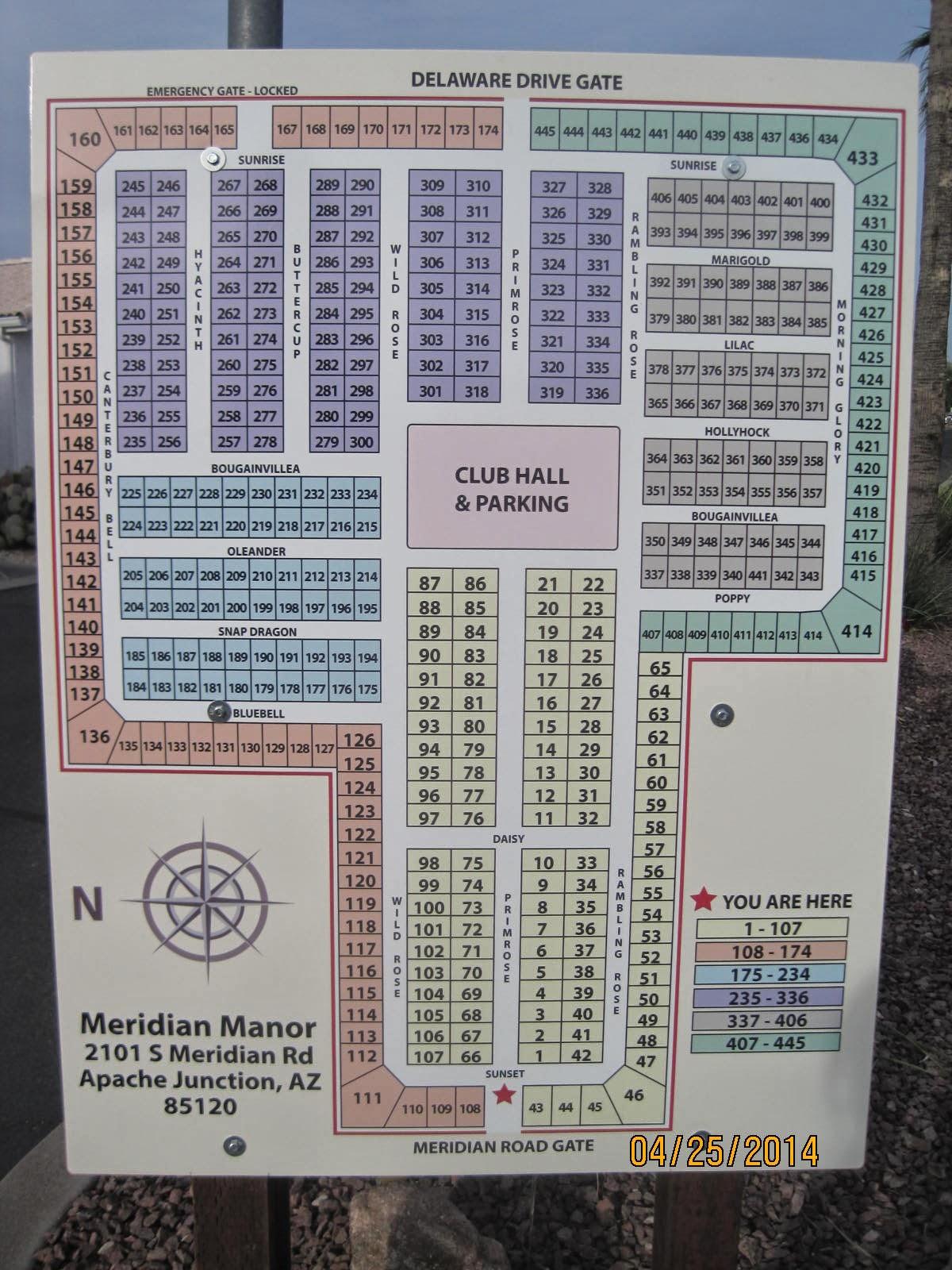 Meridian Manor Street Map