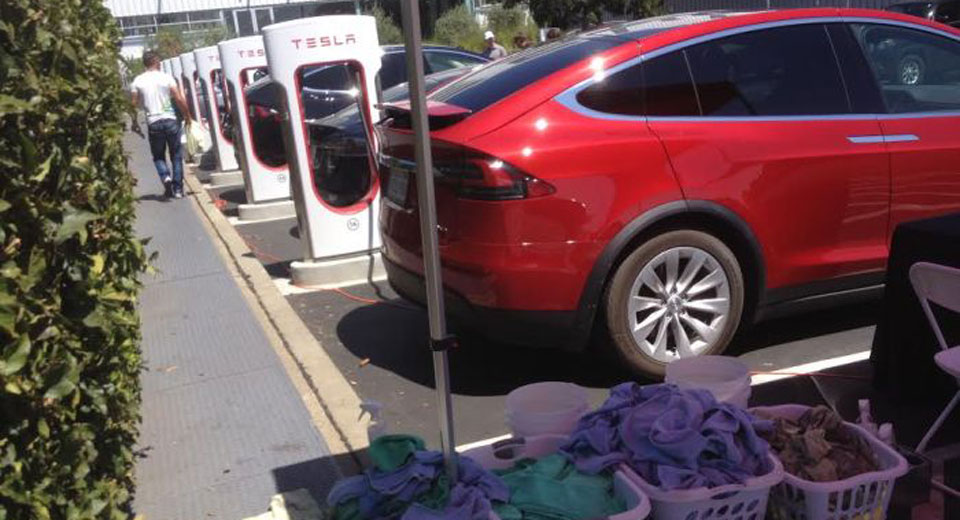 Tesla Might Install Car Washes At Its Supercharger Stations