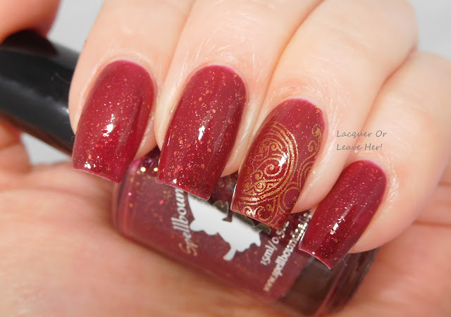 Spellbound Nails Merry & Bright + Girly Bits GBC 1-01 + Girly Bits Bronze Goddess