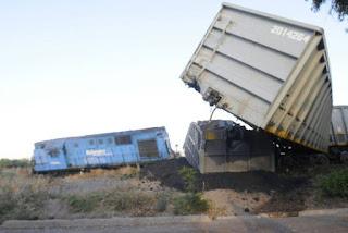 Sabotaje a un tren carbonero en Maipú, Mendoza