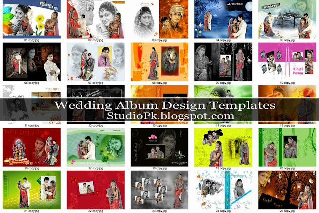 Indian Wedding Album Layout Design
