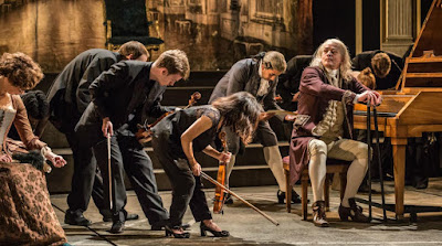 Angus Macbean and Southbank Sinfonia - Peter Schaffer's Amadeus - National Theatre - photo Marc Brenner