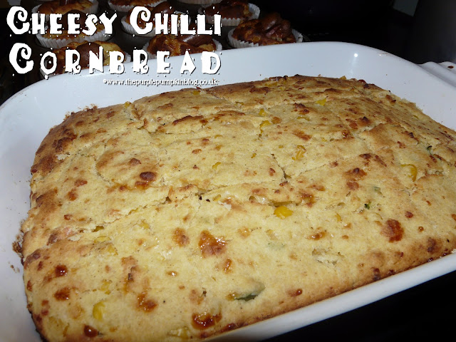 Cheesy Chilli Cornbread | The Purple Pumpkin Blog