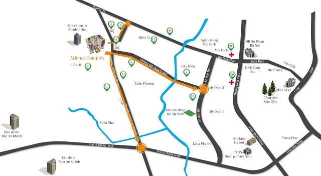 Vị trí và quy hoạch xung quanh dự án Athena Complex