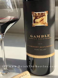 2014 Gamble Family Vineyards Napa Valley Cabernet Sauvignon Label