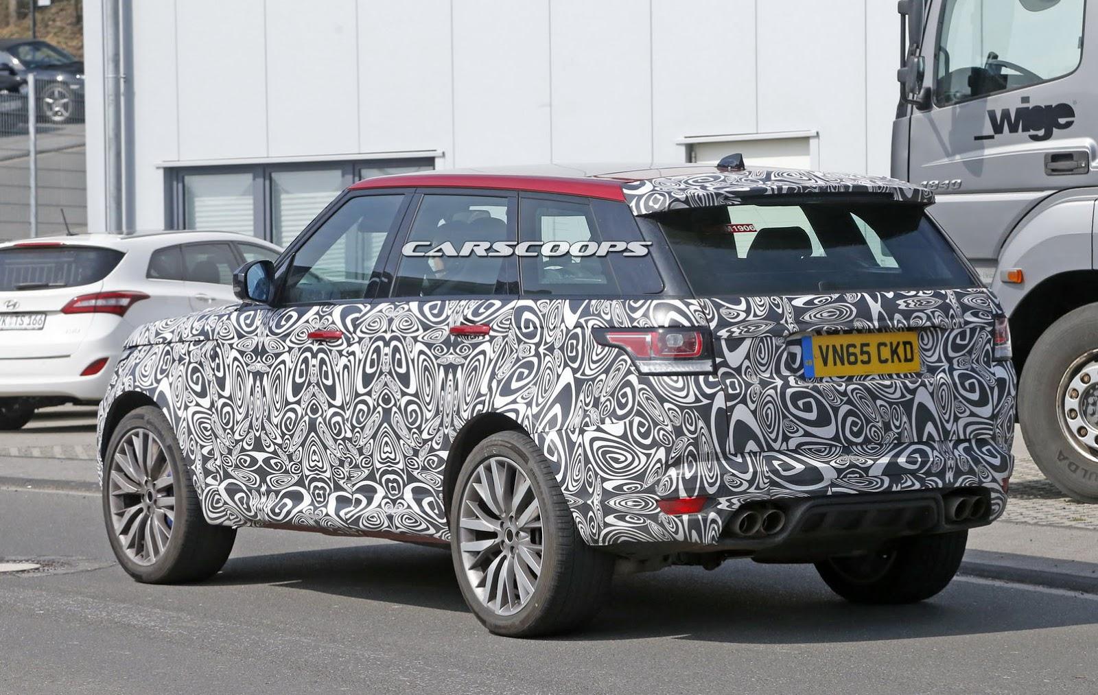 2017 Land Rover Range Rover Sport 5 0 L V8 Supercharged >> Spied: 2017 Range Rover Sport SVR Facelift To Get A Power ...